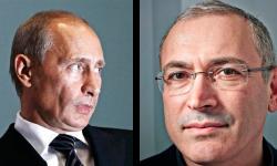 Vladimir Putin and Mikhail Khodorkovsky Phil Fisk; Eyevine