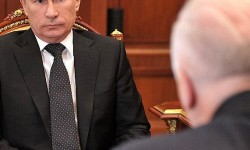 Bastrykhin talks, Putin appears to listen Photo courtesy of the Kremlin