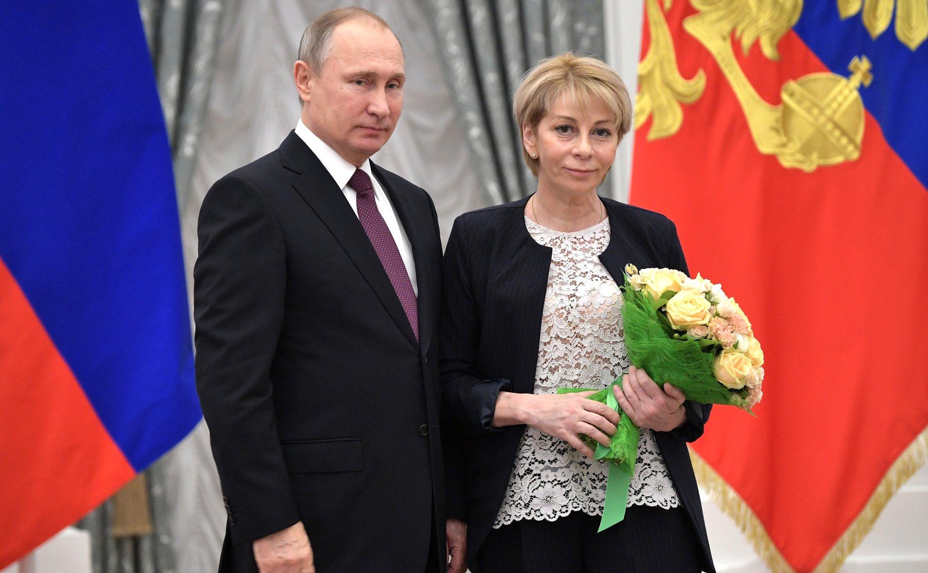 "President Putin with Elizaveta Glinka – ""Dr Liza."""